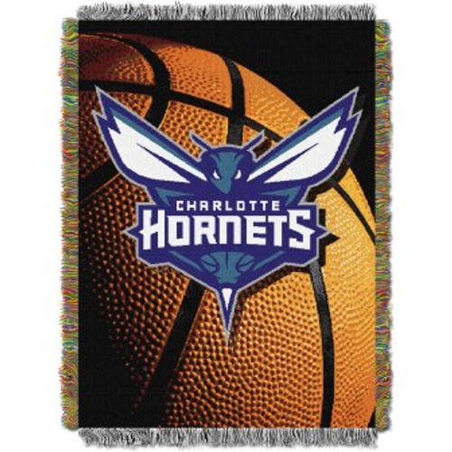 Charlotte Hornets Photo Real Woven Tapestry Throw Blanket