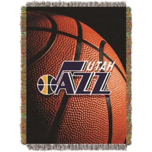 Utah Jazz Photo Real Woven Tapestry Throw Blanket
