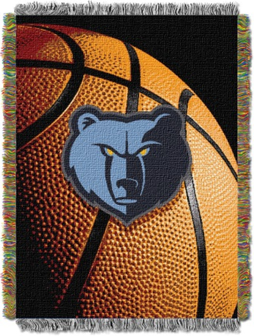 Memphis Grizzlies Photo Real Woven Tapestry Throw Blanket