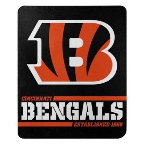 Cinncinnati Bengals Official NFL Split Wide Fleece Throw Blanket