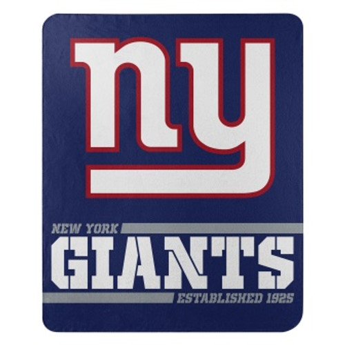 New York Giants Official NFL Split Wide Fleece Throw Blanket