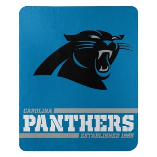 Carolina Panthers Official NFL Split Wide Fleece Throw Blanket