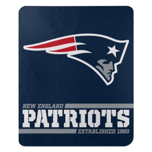 New England Patriots Official NFL Split Wide Fleece Throw Blanket