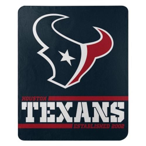 Houston Texans Official NFL Split Wide Fleece Throw Blanket