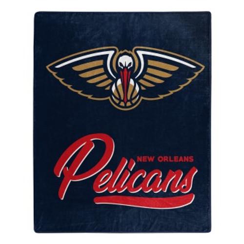 New Orleans Pelicans Official NBA Signature Micro Raschel Throw Blanket