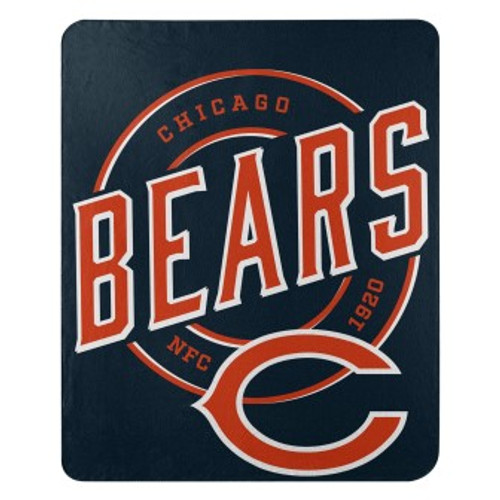 Chicago Bears Official NFL Campaign Fleece Throw Blanket