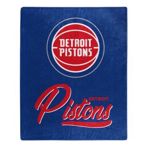 Detroit Pistons Official NBA Signature Micro Raschel Throw Blanket