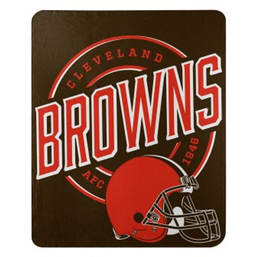 Cleveland Browns Official NFL Campaign Fleece Throw Blanket