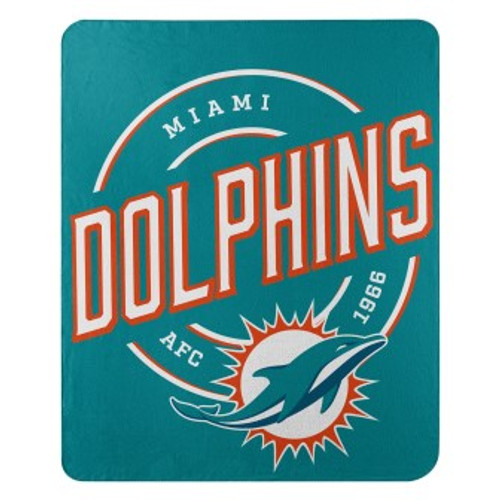 Miami Dolphins Official NFL Campaign Fleece Throw Blanket