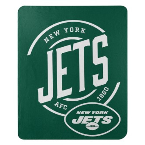 New York Jets Official NFL Campaign Fleece Throw Blanket