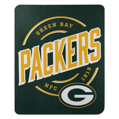 Green Bay Packers Official NFL Campaign Fleece Throw Blanket