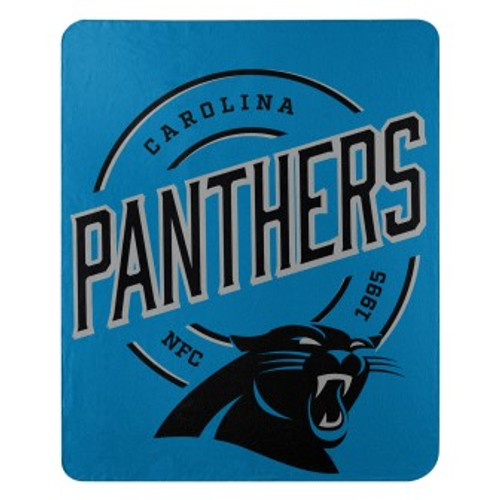 Carolina Panthers Official NFL Campaign Fleece Throw Blanket