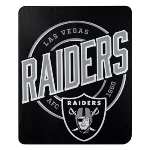Oakland Raiders Official NFL Campaign Fleece Throw Blanket