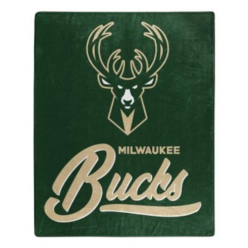 Milwaukee Bucks Official NBA Signature Micro Raschel Throw Blanket