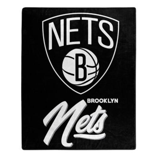 Brooklyn Nets Official NBA Signature Micro Raschel Throw Blanket