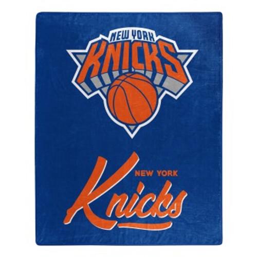 New York Knicks Official NBA Signature Micro Raschel Throw Blanket