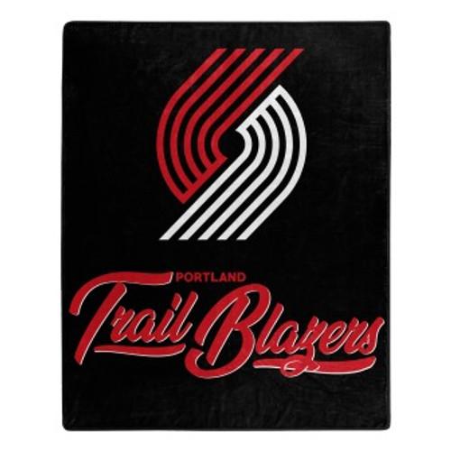 Portland Trail Blazers Official NBA Signature Micro Raschel Throw Blanket