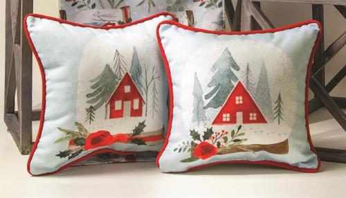 Snow Globe 12 x 12 Village Pillow