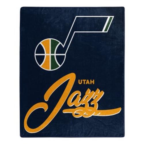 Utah Jazz Official NBA Signature Micro Raschel Throw Blanket