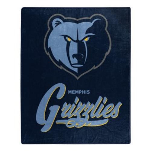 Memphis Grizzlies Official NBA Signature Micro Raschel Throw Blanket