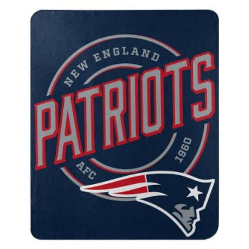 New England Patriots Official NFL Campaign Fleece Throw Blanket