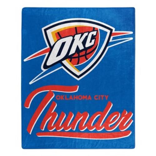 Oklahoma City Thunder Official NBA Signature Micro Raschel Throw Blanket