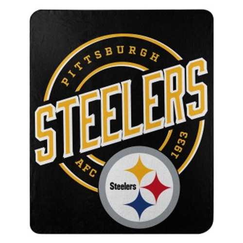 Pittsburgh Steelers Official NFL Campaign Fleece Throw Blanket