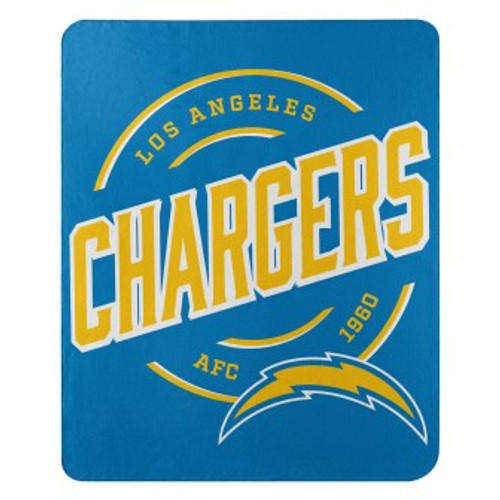 Los Angeles Chargers Official NFL Campaign Fleece Throw Blanket