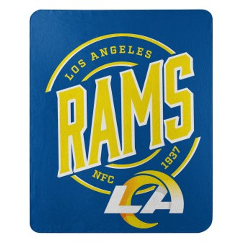 Los Angeles Rams Official NFL Campaign Fleece Throw Blanket