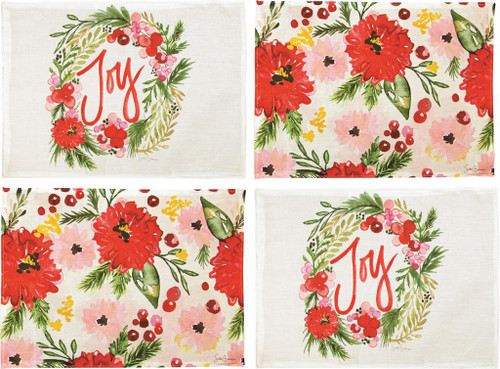 Holiday Floral 18 x 13 Placemats