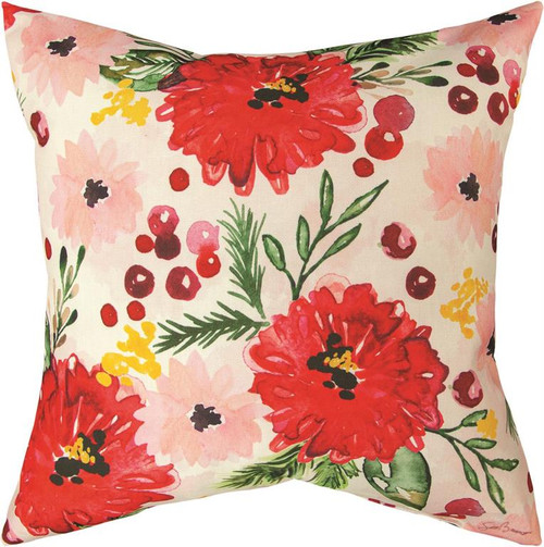 Holiday Floral 18 x 18 Pillow