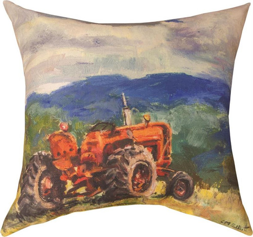Tractor 18 x 18 Climaweave Pillow