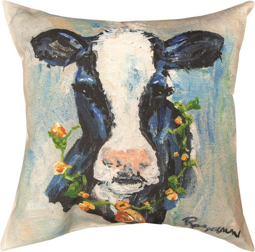 Cow 18 x 18 Climaweave Pillow