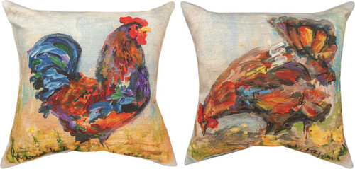 Rooster 18 x 18 Climaweave Pillow