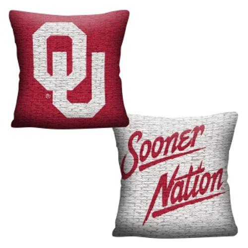 Oklahoma Sooners Official NCAA Invert Woven Pillow