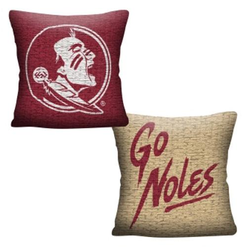 Florida State Seminoles Official NCAA Invert Woven Pillow