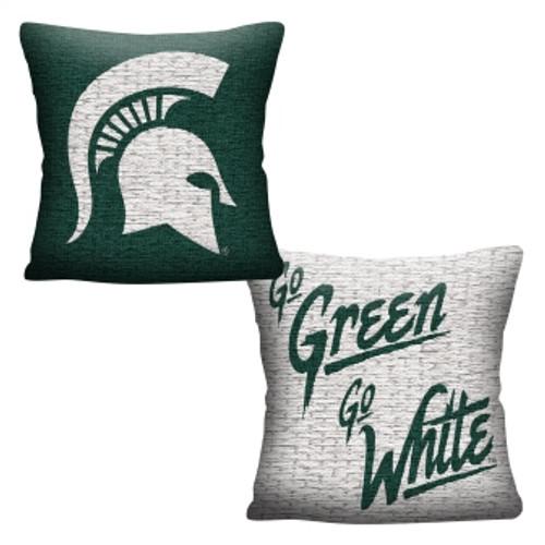 Michigan State Spartans Official NCAA Invert Woven Pillow