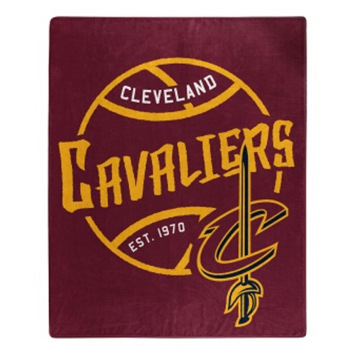 Cleveland Cavaliers Official NBA Black Top Raschel Throw Blanket