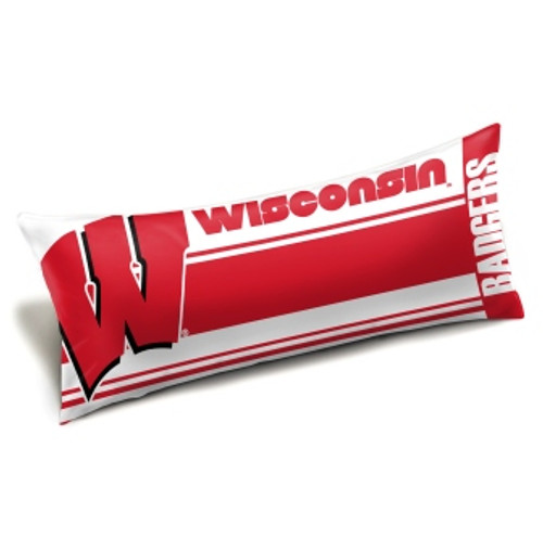 Wisconsin Badgers Official NCAA Seal Body Pillow
