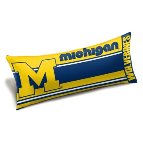 Michigan Wolverines Official NCAA Seal Body Pillow