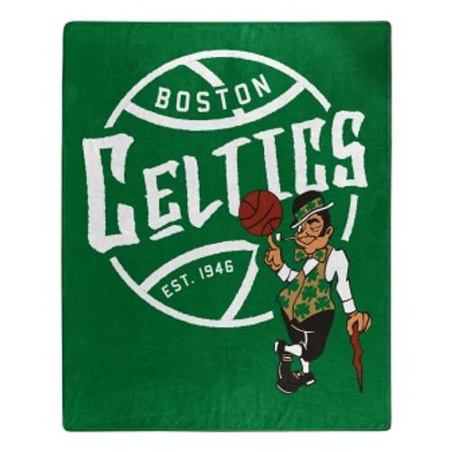 Boston Celtics Official NBA Black Top Raschel Throw Blanket