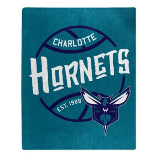 Charlotte Hornets Official NBA Black Top Raschel Throw Blanket