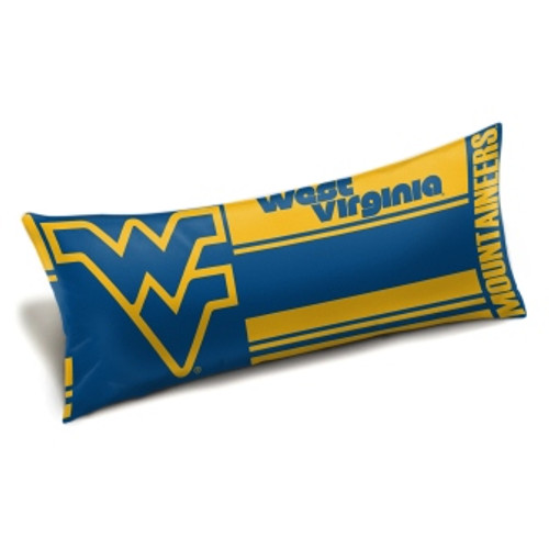 West Virginia Mountaineers Official NCAA Seal Body Pillow