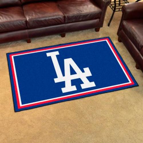 Los Angeles Dodgers 4x6 Rug-Logo