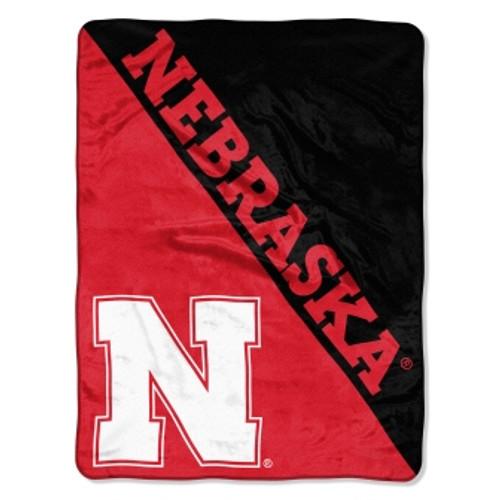 University of Nebraska Official NCAA Halftone Micro Raschel Throw Blanket
