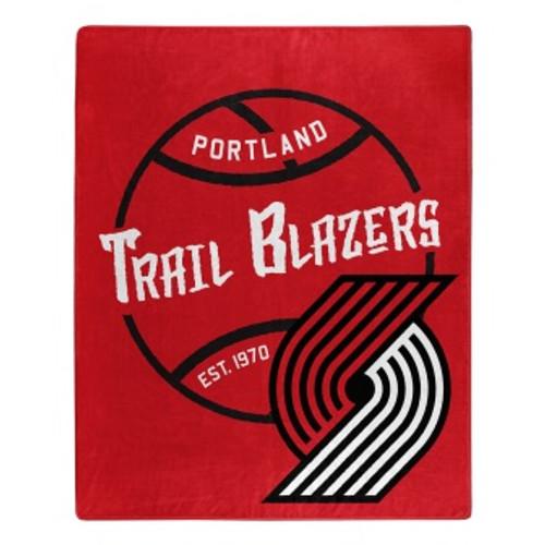 Portland Trail Blazers Official NBA Black Top Raschel Throw Blanket