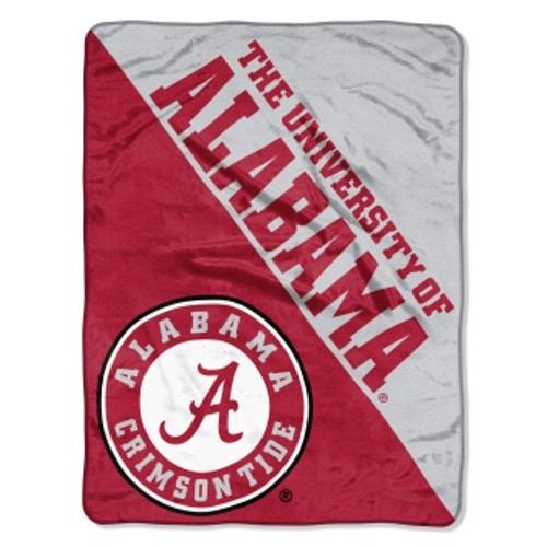 Alabama Crimson Tide Official NCAA Halftone Micro Raschel Throw Blanket