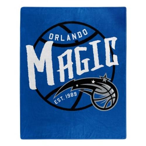 Orlando Magic Official NBA Black Top Raschel Throw Blanket