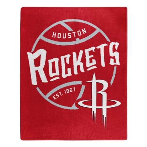 Houston Rockets Official NBA Black Top Raschel Throw Blanket
