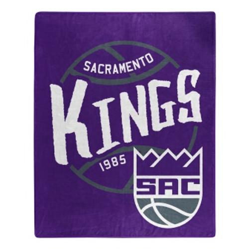 Sacramento Kings Official NBA Black Top Raschel Throw Blanket